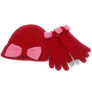 Kate Spade Beanie and Glove Gift Set